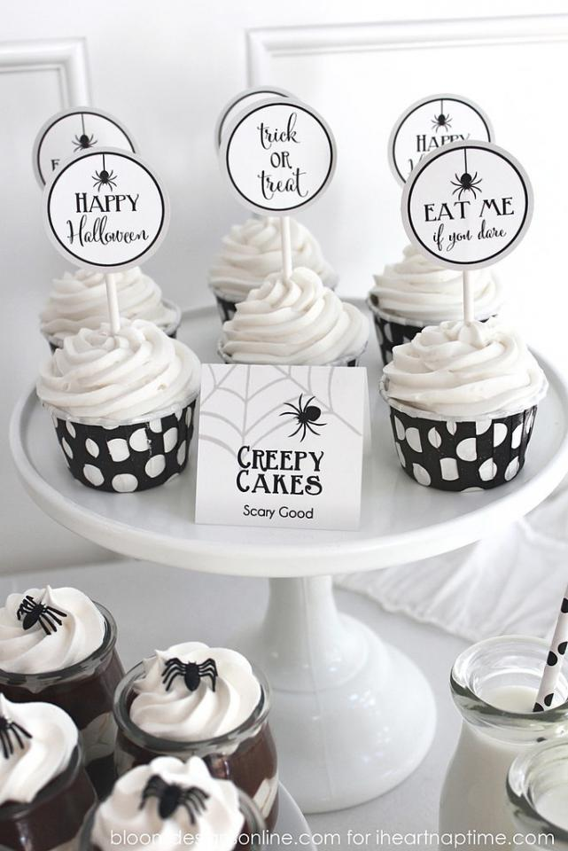Terrifying Treats Tags Spruce up the look of your Halloween treats with these food-focused printables from I Heart Nap Time.