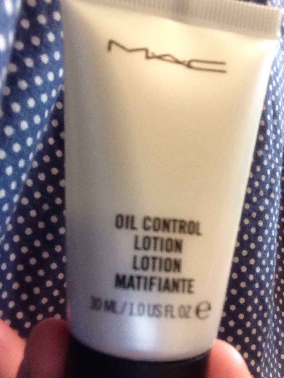 Use a oil control or oil free moisturizer! This one is from Mac. It is my favorite one but they also make cheaper ones that you can find at walmart. I believe clean and clear has one.