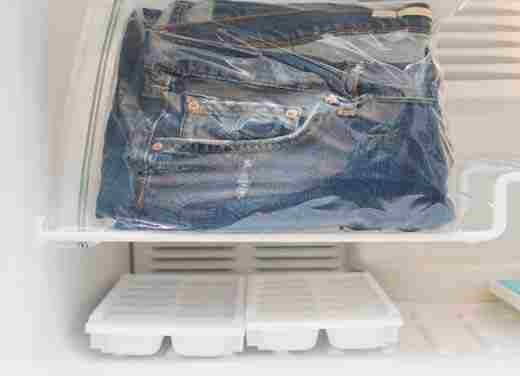2.Put your jeans in the freezer to kill odors