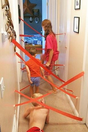 20. Test your guests agility with a crepe paper maze.