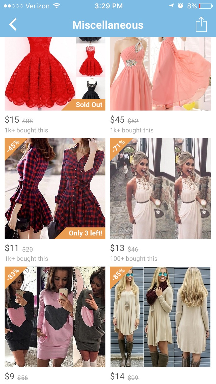 I have yet to get a single dress off of wish, but now that it's summertime I'm trying to decide which one I want, I want to buy them all!