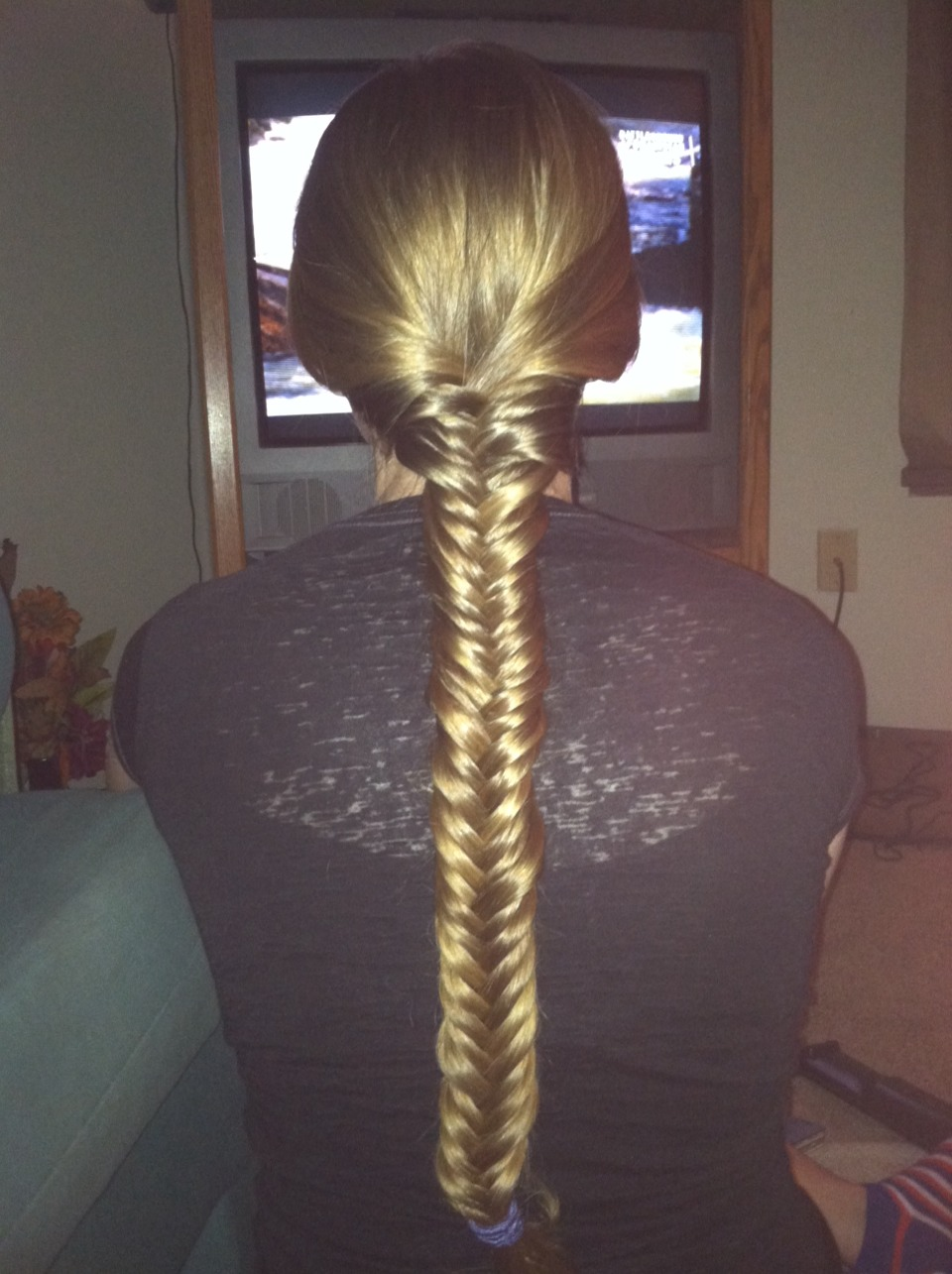 Long and thick hair like my sisters? Well use smaller pieces and use your thumbs to hold the pieces to get a tight braid