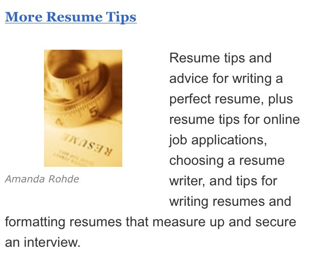 tips for a good resume