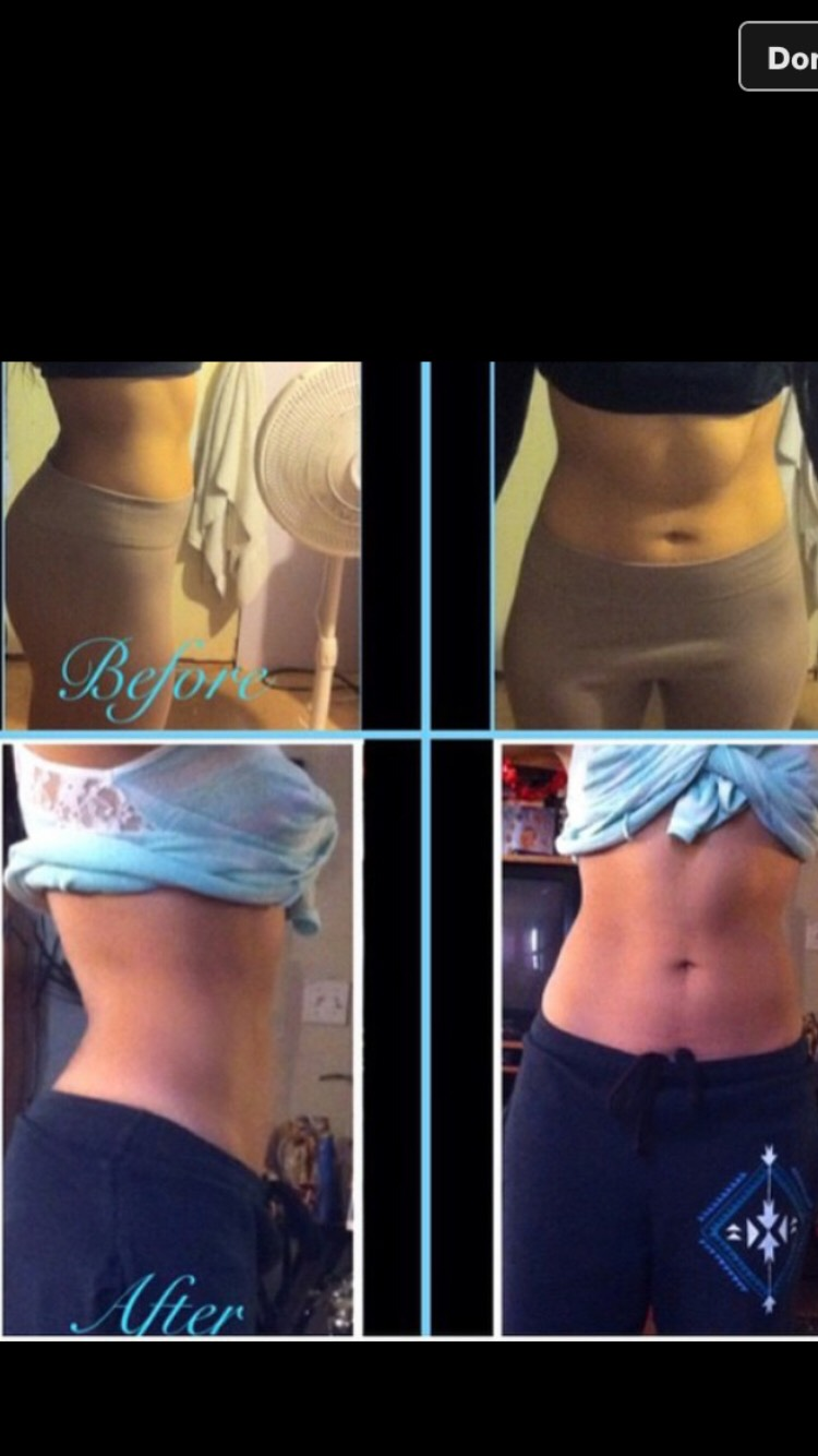 My sisters personal results after 1 wrap!