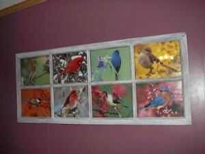 Or even better, recycle an old window to make frame.