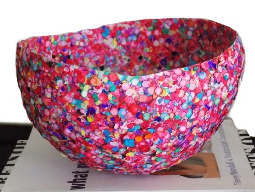 Now you have a Confetti Vase/Bowl that can be Used for Anything or even for just a Decoration.