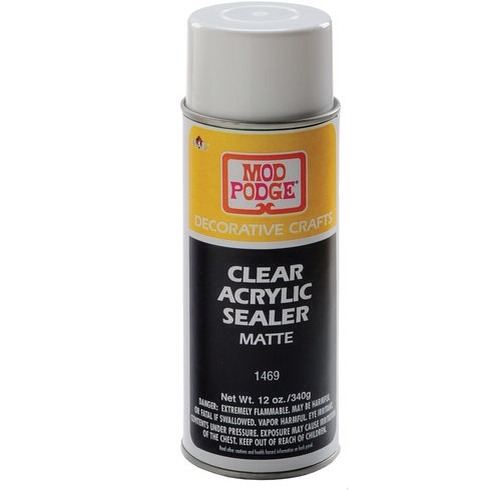 5. ACRYLIC SEALER  If you put a lot of effort into a particular project, you'll want to protect your efforts with a sealant. A layer of protective spray sealer will keep your project from getting dinged-up, fading & will cut down on the tackiness that those thick layers of decoupage paste can cause.
