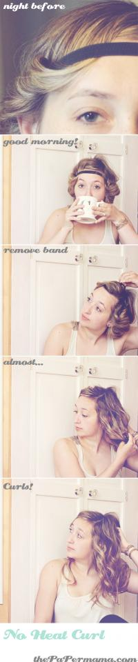 41. Want cute curls without bothering with a curling iron? Try this easy no-heat curl method!
