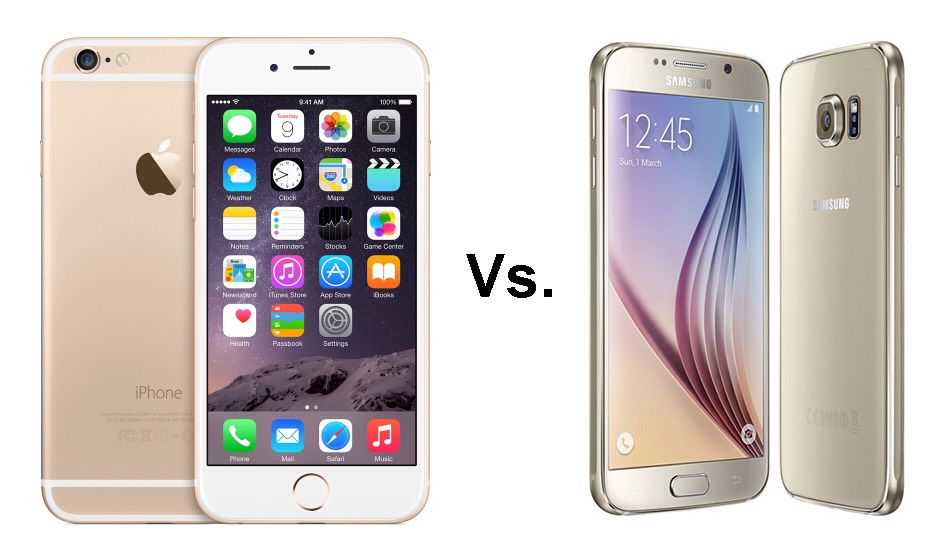 Here are the phones. On the left its the iPhone 6 and on the right its the Samsung galaxy S6 which is better?