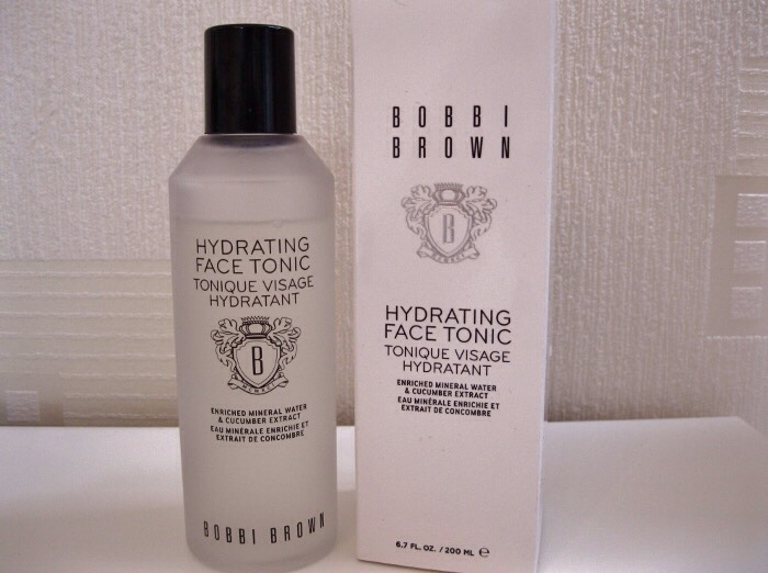 STEP V  Face toner (to balance skin pH)  - pour some into palms and pat into skin and neck until absorbed.