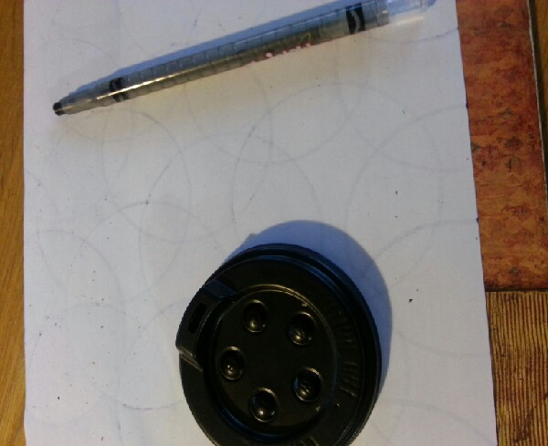 You will need: Paper, a pen or marker or crayon and something circular to trace (e.g travel cup lid or sellotape holder)