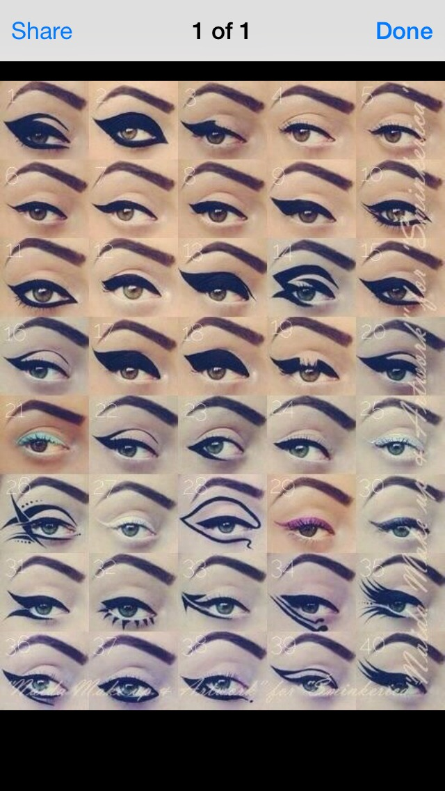 Cool ways to wear eyeliner