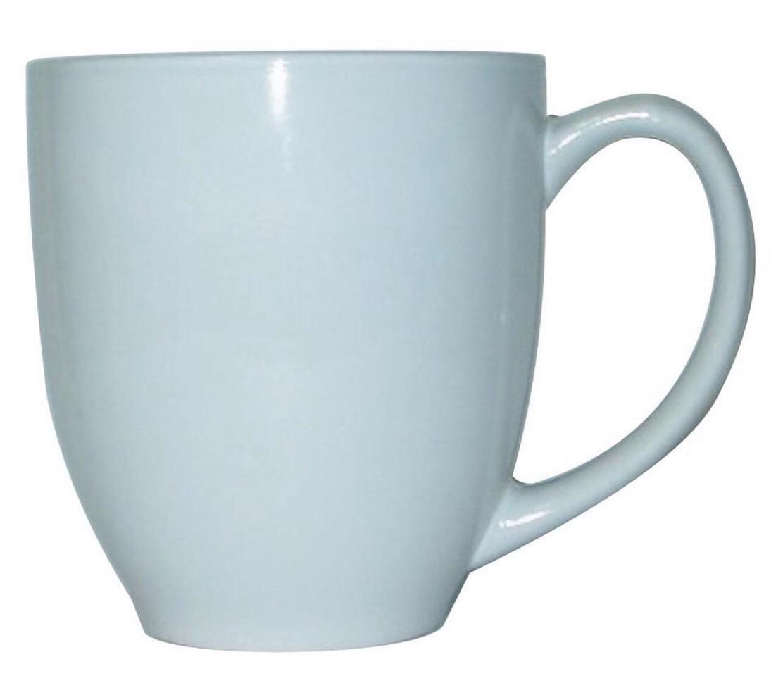 Take a plane mug (I used blue the first time)