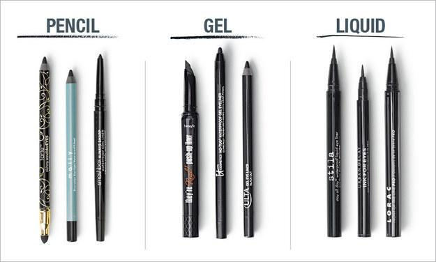 1. First: Know that there are three basic types of liners.