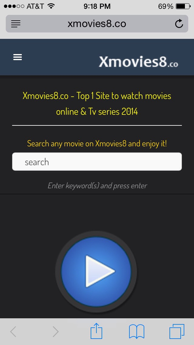 http://m.xmovies8.co  Just type in your movie or scroll through the many options! There will be a few pop-up ads, but just close those and your video should play perfectly :) enjoy!