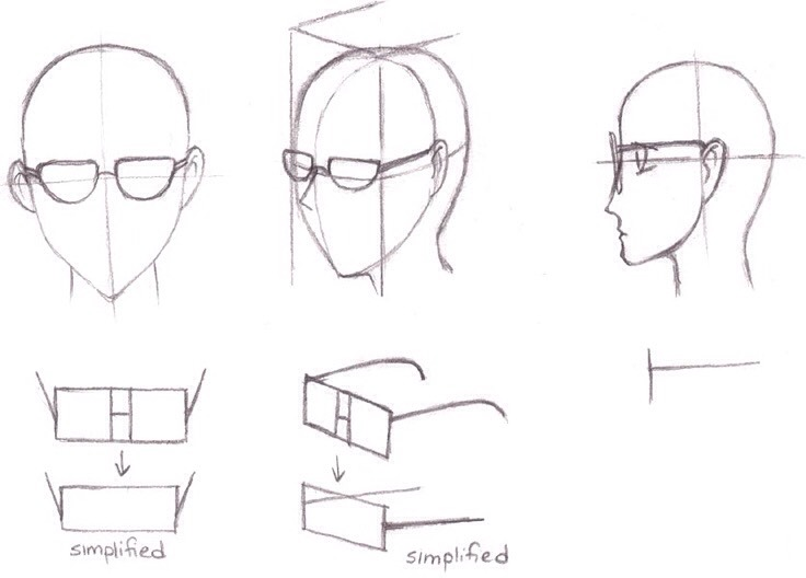 This is how you could draw glasses.