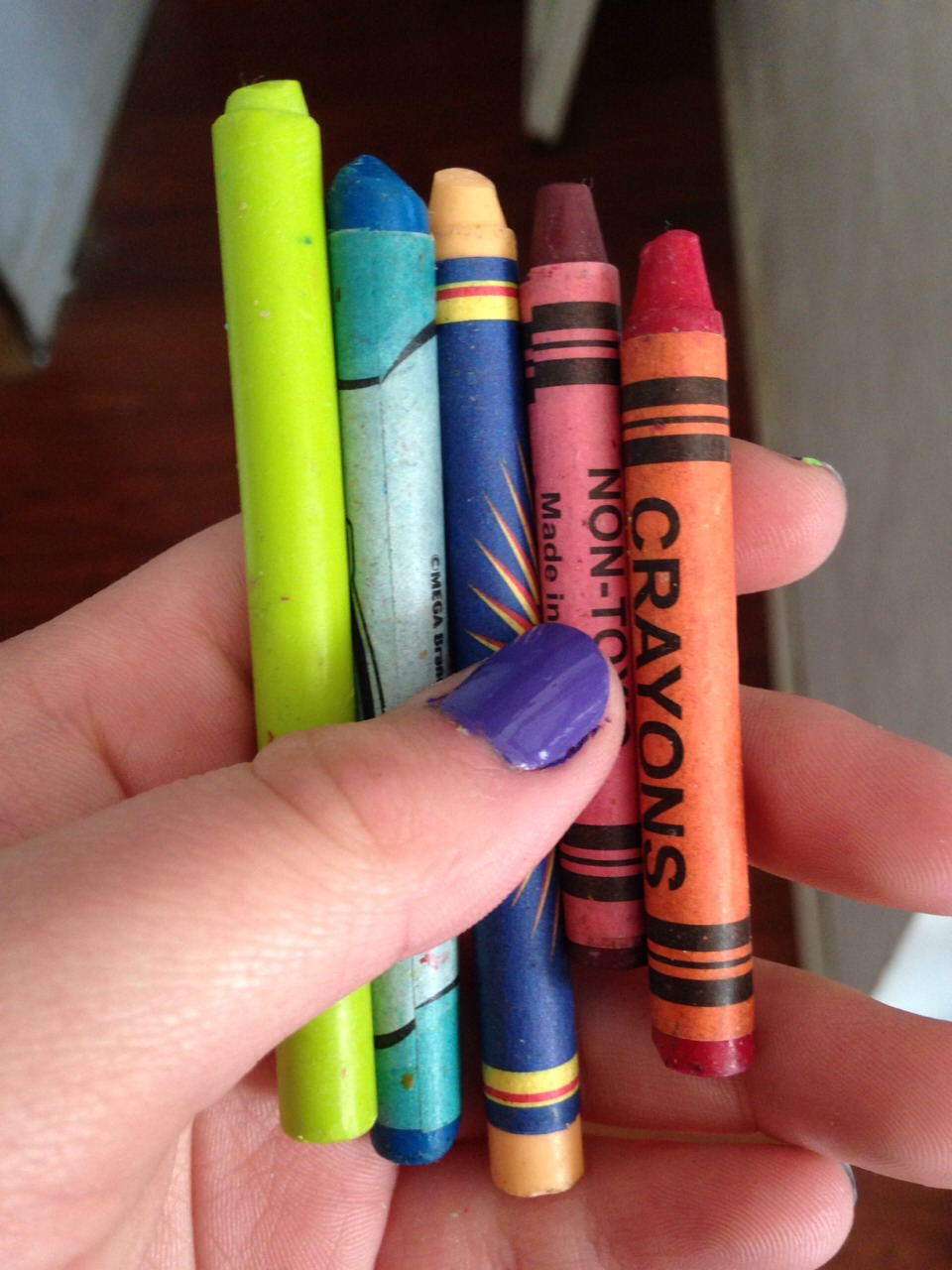 •get the color of crayons that you want
