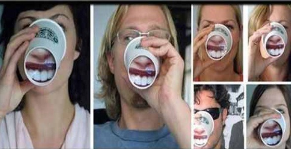 The cup that magnifies your mouth! Lol!