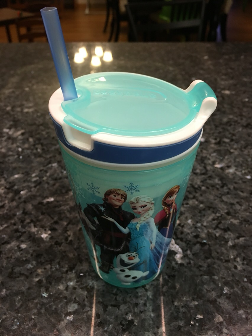 This snack & drink container is just convenient. Use it for travel or for just watching a movie. My husband got this at The As Seen On TV store at our local mall.