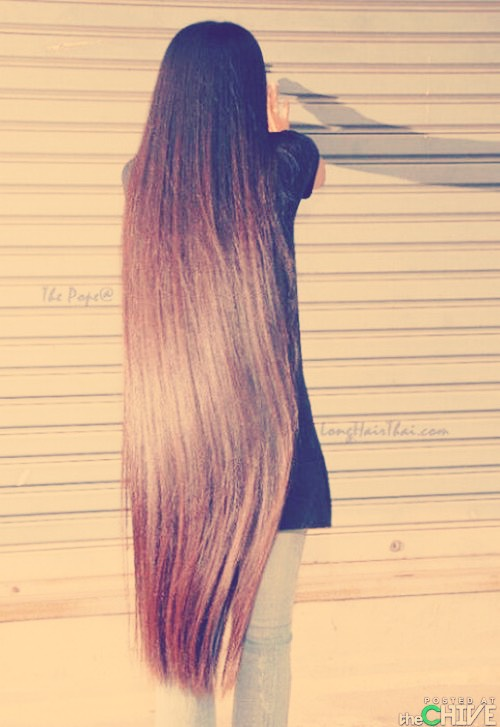 Want really long hair? This is what you do...