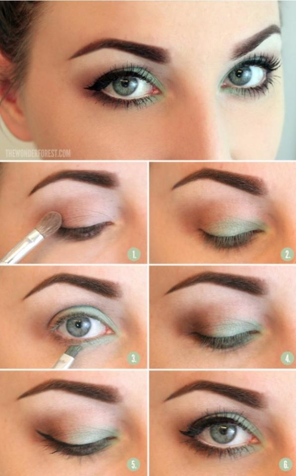 A green eyeshadow look for everyday wear.