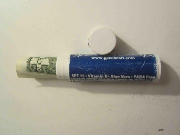 use empty chap stick containers to store your money in for travel or at home people never look for money in a chap stick container.