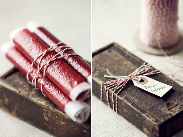 Fruit Leathers in a Rustic Wooden Box