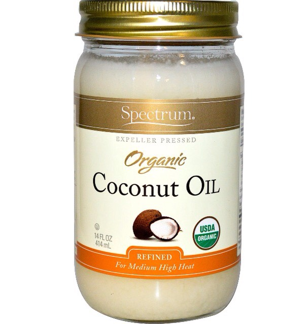 Coconut oil helps to control frizz and add shine to hair.