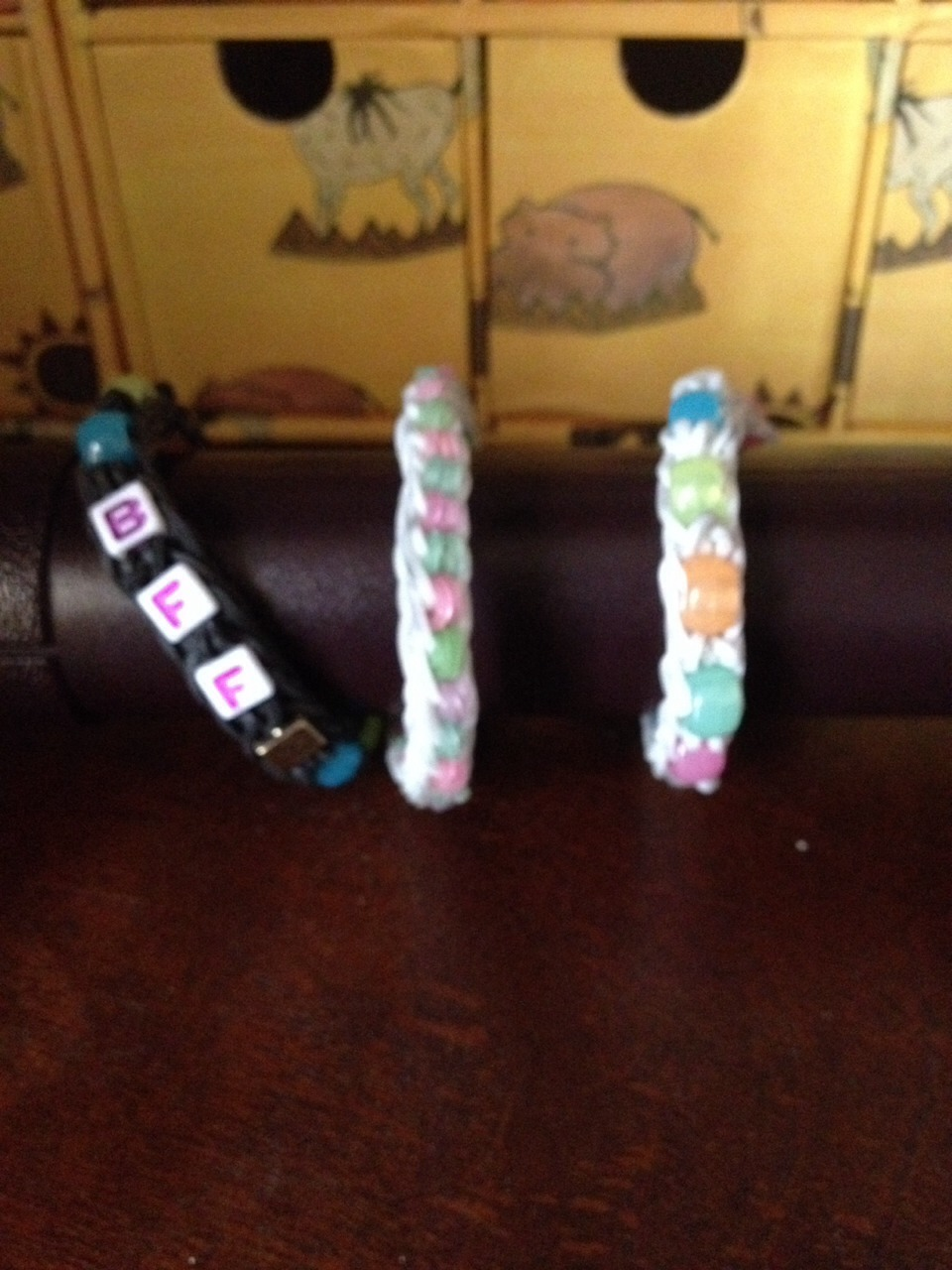 Here's some I made. you can add beads instead of bands.