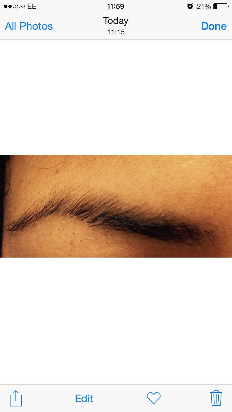 the actual eyebrow