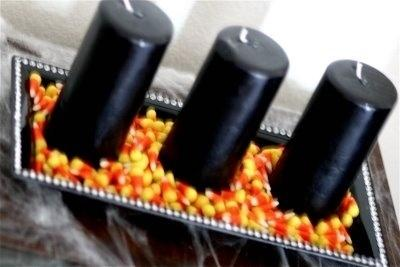 18. Black Candles in a Bed of Candy Corns