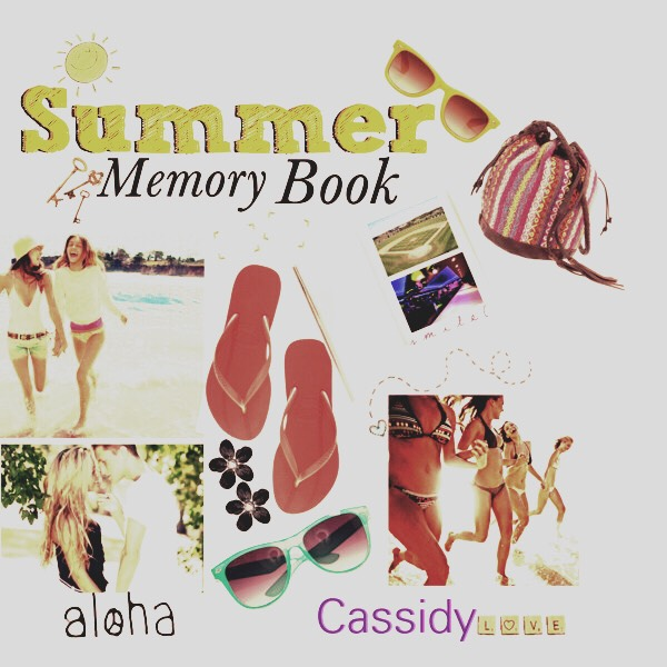 Summer memory book📔📔📒- This DIY is very easy all you'll need to complete this is an album or journal of some type, you'll need pictures and any souvenirs you'd like to use😍😍😍