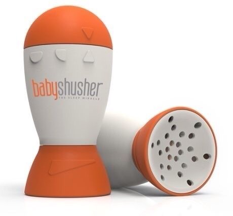 The shusher , makes a shushing sound when the baby cries