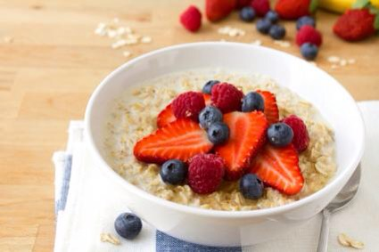 Oatmeal - oatmeal is probably one of my favourite breakfasts to have. Oatmeal topped with berries and a drizzle of honey tastes so good