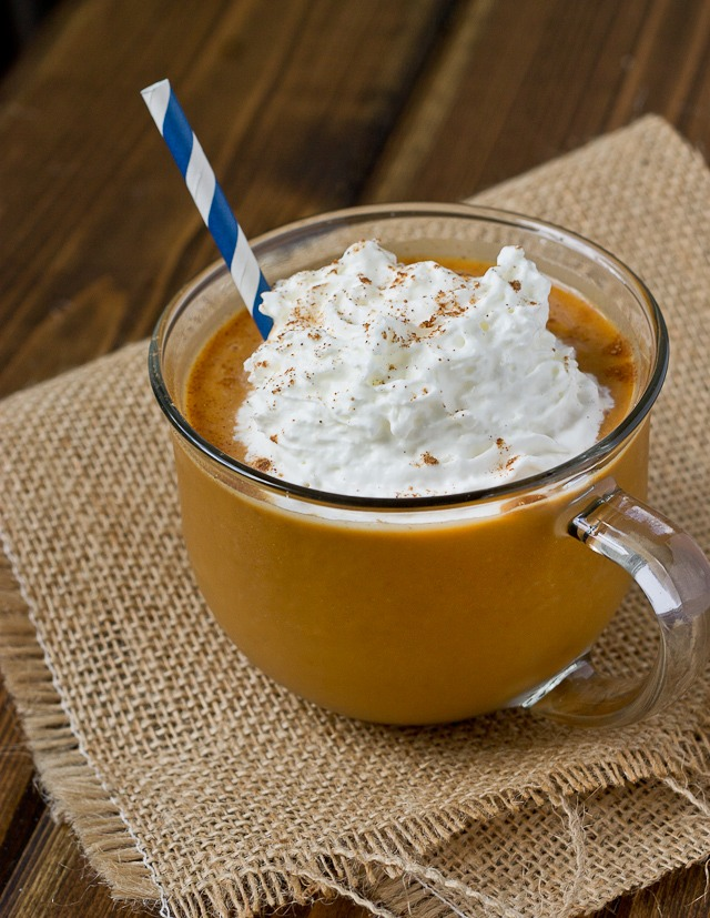 Fall is just around the corner. You know what this means- the rise of the pumpkin trend yet again! This recipe is tried and true- my favorite way to make PSF's every fall, with real pumpkin (unlike Starbucks). This is not a low-fat recipe so keep that in mind, but these don't hurt in moderation!