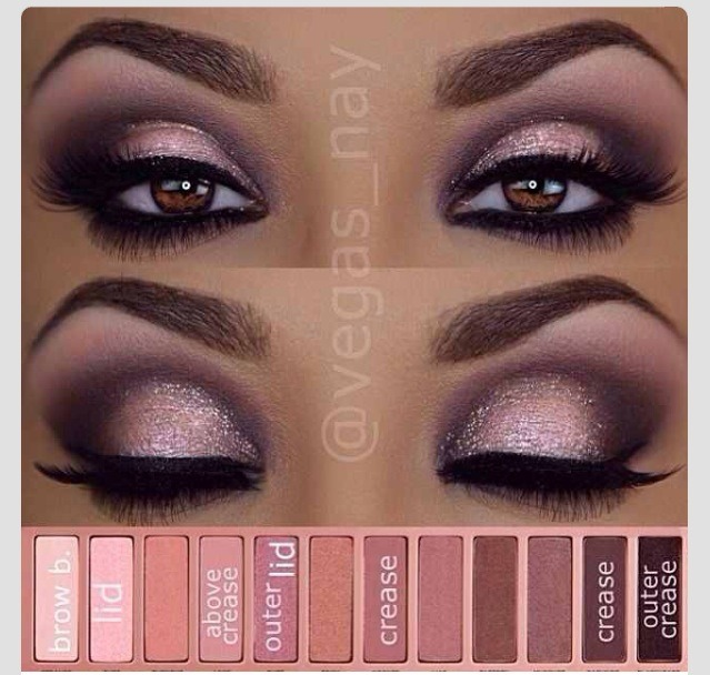 Brow bone is the first one then lid and the last color it says outer crease and there's a color before that says crease