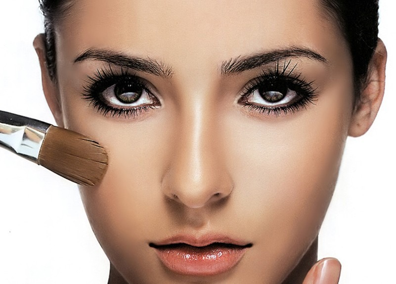 Before going to bed. Use some Vaseline to remove your makeup. Just make sure not to get it in your eyes.