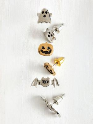Glitz Is Halloween If your ideal place to live is in Halloweentown, then these earrings are for you. Sure, they're super Halloweeny and you might get some double takes if you rock them in the middle of the summer, but who cares? Buy it at Mod Cloth for $33