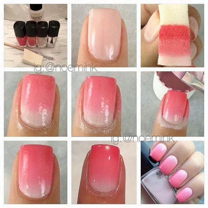 Get A Sponge I Use An Ordinary Kitchen And It Works Well But You Can Proper One For Nails 2 Either Dab Two Diffe Colors On The