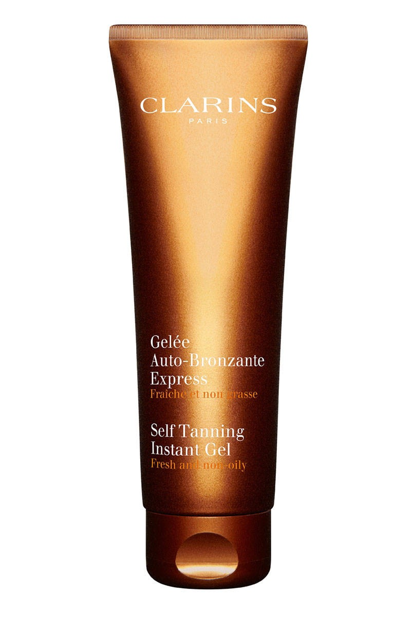 Clarins Instant Gel  This gel formula soaks into your skin immediately, so there's no downtime. It gives your face and body a healthy glow.  $45; neimanmarcus.com