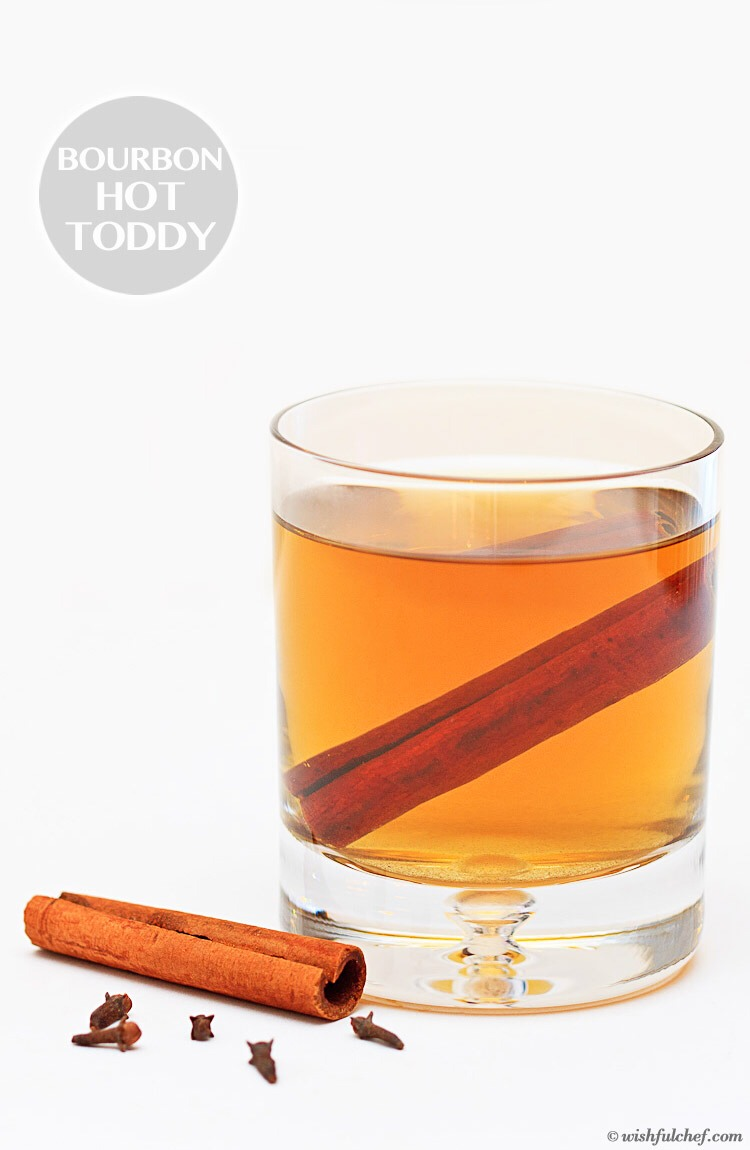 For a hot toddy it's all the same ingredients except I pour a little brandy into a mug of hot water. Then I add the honey lemon and cinnamon. I hope you enjoy my tip!