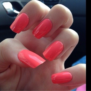 Either add your own shop brought acrylics or get them don't professionally and apply a pink coat!