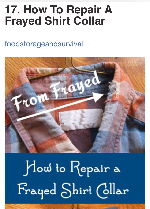 http://foodstorageandsurvival.com/how-to-repair-a-frayed-shirt-collar/