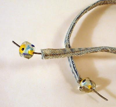 Thread a cute bead onto either end...
