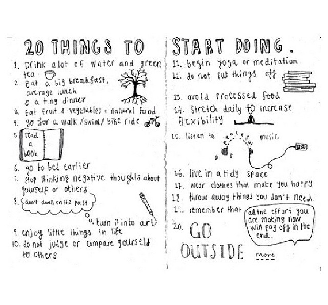 20 things to start doing <3