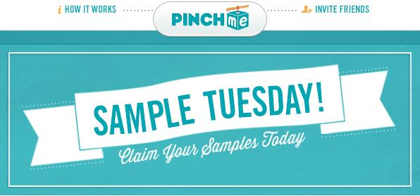 Sign up for PinchMe and get free samples. Signing up is easy and free. Use my referral link on the next page to get started.