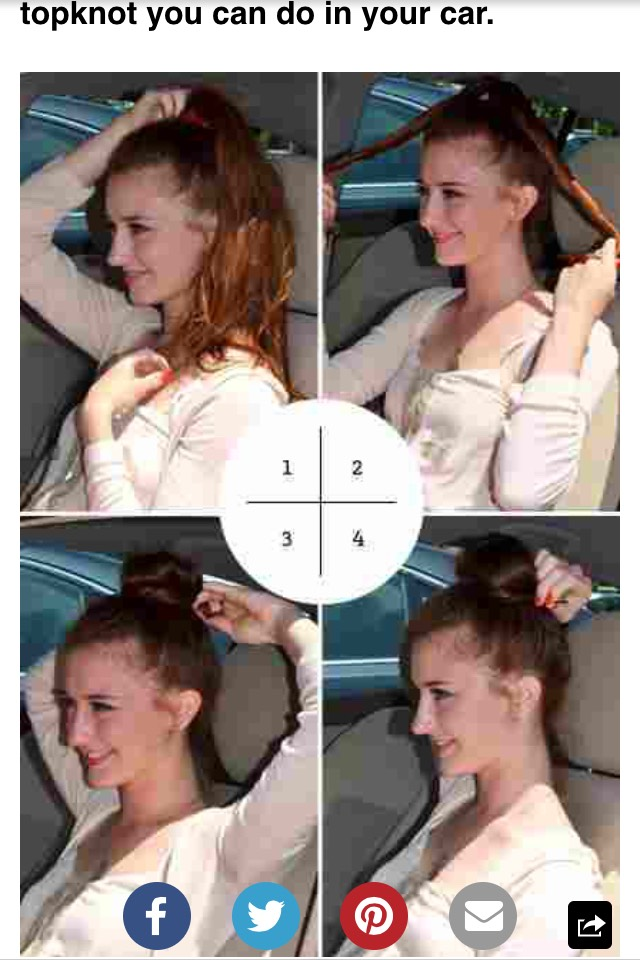 A cute and easy way to do a bun