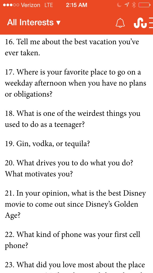 Interesting questions to ask on a date