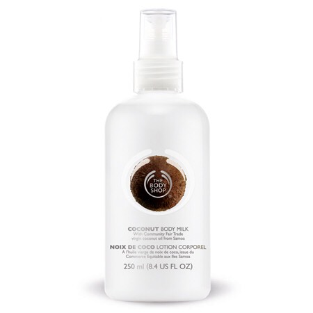 After I get out of the shower and dry off, I use body shop coconut body lotion. It's extra moisturizing so it's awesome.