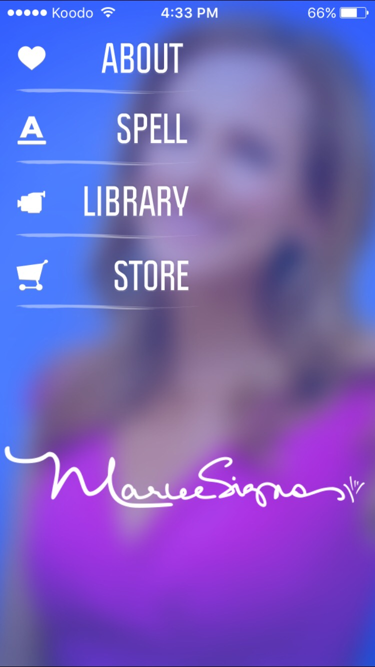 This APP is awesome!! It's called Marleesigns. Theirs lots of vids that show how to do it and you can spell a word and it will show you how to sign the letters. Awesome app!